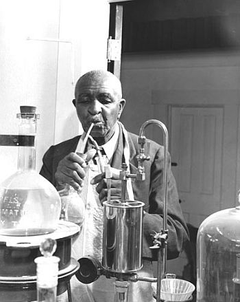 George Washington Carver in Laboratory