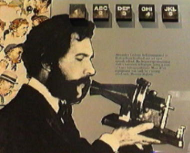 photo of graham bell and telephone